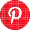 pinterest red check circle social media icon